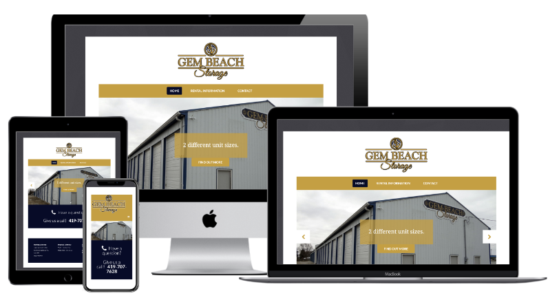 Gem Beach Storage Units Website