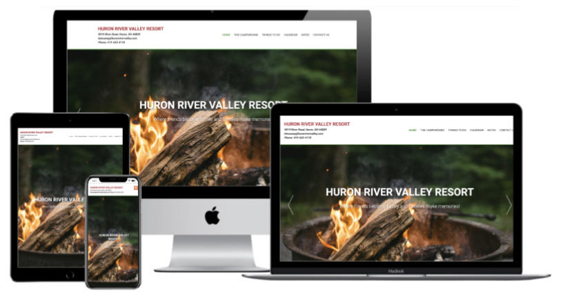 Huron River Valley Resort Website