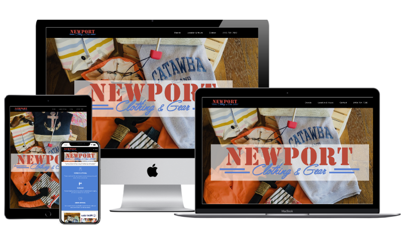 Newport Clothing & Gear Website