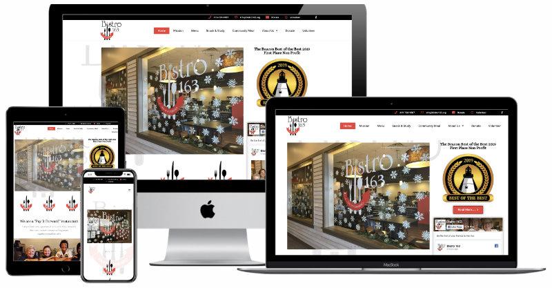 Bistro 163 website